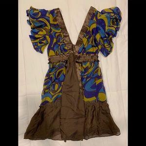 "Arden B. Low ""V""-neck dress"